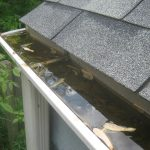 The Importance of Cleaning Your Gutters in April - Gutter clog